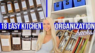 18 EASY KITCHEN ORGANIZATION IDEAS 2020! AMAZON, DOLLAR STORE, IKEA HACKS
