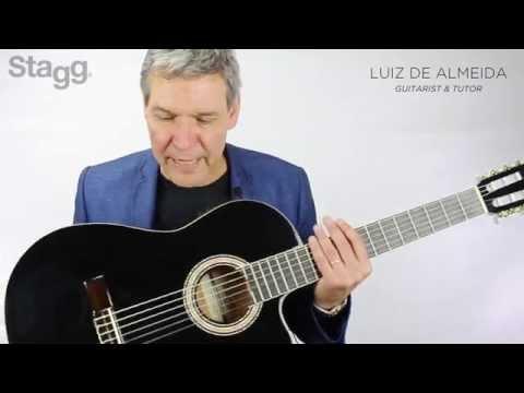 Đàn guitar Classic Stagg C546TCE - BK
