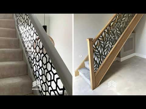 railing laser cut | railing tangga minimalis | desain railing | railing laser metal | by argonesia