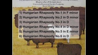 Franz (Ferenc) Liszt: Hungarian Rhapsodies 1-6, orchestra version, Kurt Masur