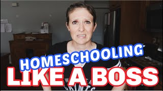 HOW TO HOMESCHOOL LIKE A BOSS   HOMESCHOOLING A LARGE FAMILY   RESOURCES