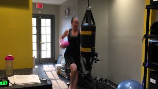Cardio Boxing on the Outslayer Double End Bag