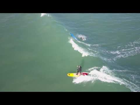 Surfers shot from drone Middleton Point