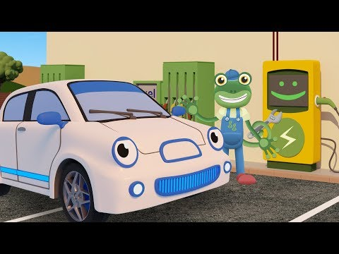 Evie the Electric Car Visits Gecko's Garage | Cars For Kids