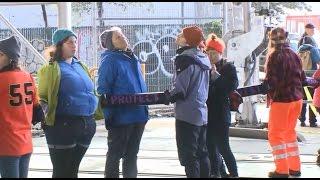 INAUGURATION:  Raw Video Of Protesters Blocking CalTrain Tracks