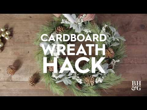 $15 Evergreen Wreath Hack | Made By Me Crafts | Better Homes & Gardens