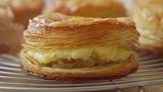 커스타드크림 애플파이 : Custard Cream Apple Pie | Honeykki 꿀키