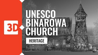 Binarowa – St. Michael Archangel's Church – Laser scanning UNESCO monuments