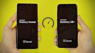 Samsung Galaxy Note 8 vs Galaxy S8 Plus - Speed Test! (4K)