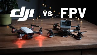 DJI SPARK vs FPV DRONE (which one is faster?)