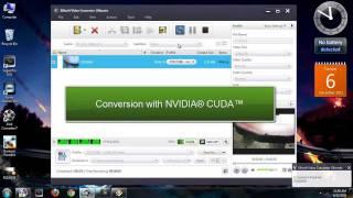 CPU vs NVIDIA® CUDA™ - Convert Video Speed Comparison