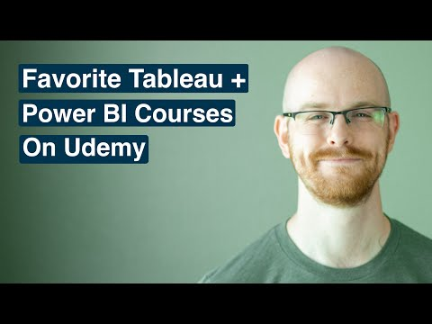 Favorite Tableau and Power BI Courses on Udemy