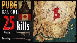 PUBG Rank 1 - Kaymind 25 kills [NA] Solo FPP - PLAYERUNKNOWN