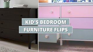 KIDS FURNITURE FLIP // Diy Kids Bedroom Furniture Makeover