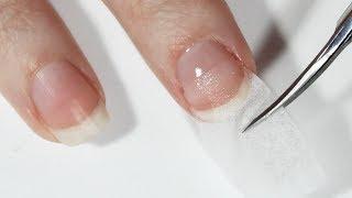 Наращивание ногтей базой на салфетку