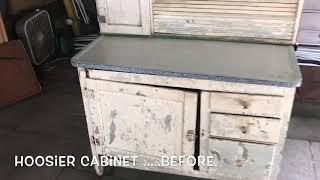 Hoosier Cabinet Restore... Before & After
