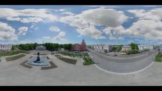 Площадь Ленина. Комсомольск-на-Амуре. Видео 360