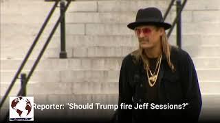 Kid Rock tells reporter Trump should 'fire you'