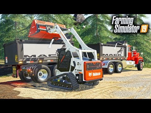 FS19- WOODCHIP PLOWS HELPING BUILD THE BRIDGE! BRIDGE CONSTRUCTION