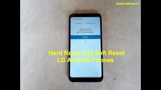LG K20 V VS501 Hard reset and Soft Reset