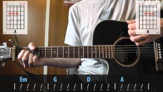 Gary Jules - Mad World guitar lesson for beginners