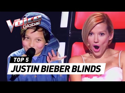 BEST JUSTIN BIEBER BLIND AUDITIONS IN THE VOICE KIDS