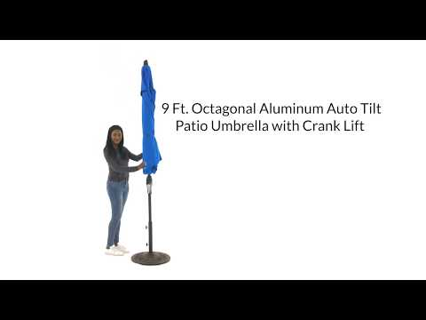 9 Ft Octagonal Aluminum Patio Umbrella Overview