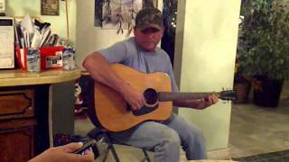 my dad playing guitar (aaron tippin- the sky's got the blues)