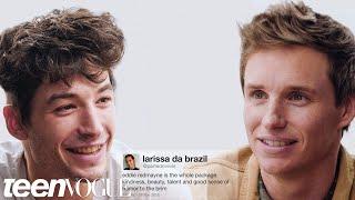 Ezra Miller and Eddie Redmayne Compete in a Compliment Battle   Teen Vogue