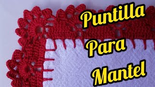 PUNTILLAS PARA MANTEL Y SERVILLETAS #31 Puntillas Fáciles para Mantel