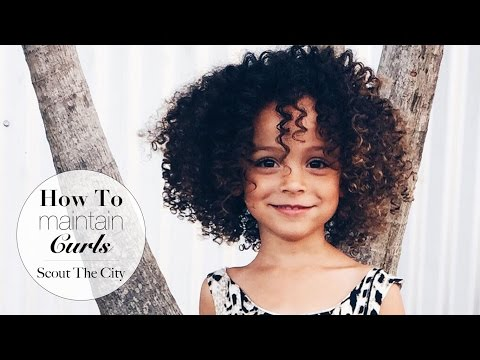 Video How to maintain curly hair for kids II Curly Hair Wash Routine