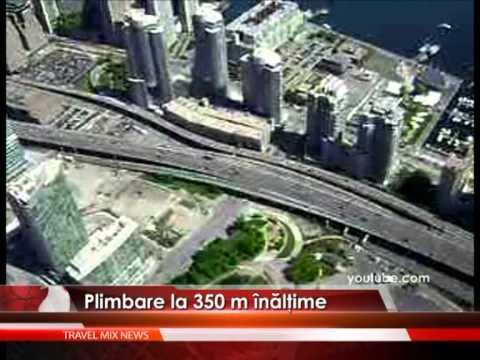 Plimbare la 350 de metri înălţime – VIDEO