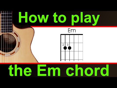 How to play Em on guitar, the E minor chord