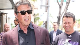 Sylvester Stallone Looking Sharp At Lunch