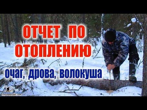 ВЫЖИВАНИЕ ЗИМОЙ ОТЧЕТ ПО ОТОПЛЕНИЮ, поиск сухостоя, дрова, доставка дров, режим горения костра