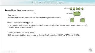 SAP HANA - DW Concepts