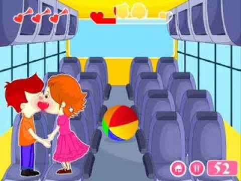 Video of Kissing Game-Kids Bus Fun