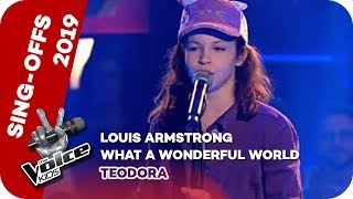 Louis Armstrong - What a Wonderful World (Teodora) | Sing-Offs | The Voice Kids 2019 | SAT.1
