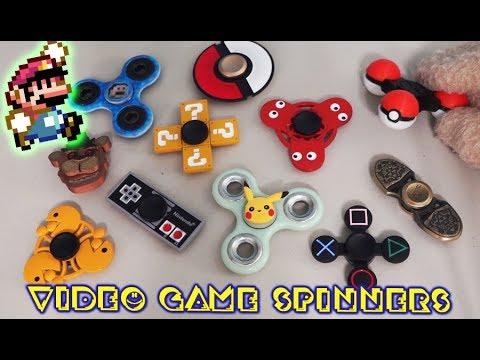 Fidget Spinner Video Game Top 10 FNAF Collection Super Mario Tricks Song Anime nintendo Pacman