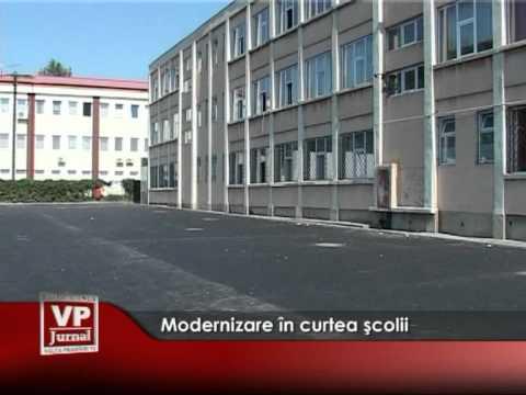 Modernizare în curtea şcolii