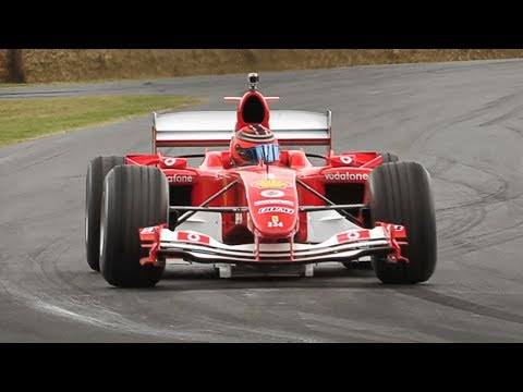 Ferrari F2004 F1 ex Schumacher in Action! 3.0L V10 Engine Melody