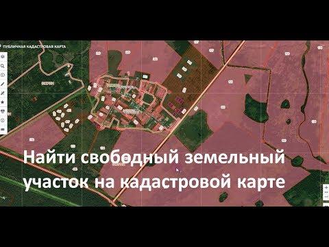 Находим свободные земельные участки на кадастровой карте