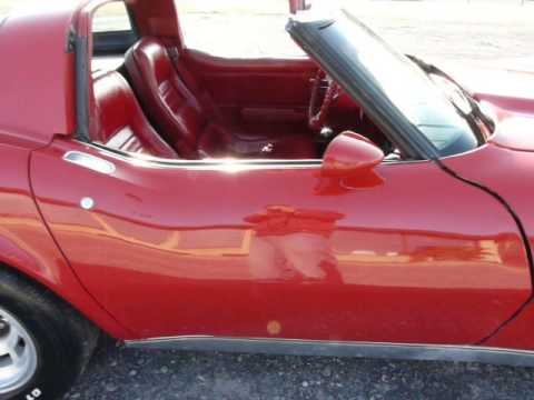 1979 Red Red Corvette T Top 4spd Video