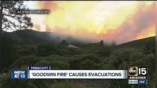 Goodwin Fire sparks near Prescott