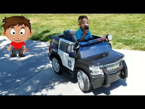 Kids Police Rollplay Chevy Tahoe Police SUV Car 6 Volt Battery Powered Ride On