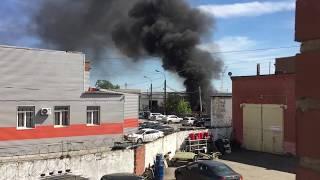 Пожар в пром зоне на Нахимова. Челябинск.