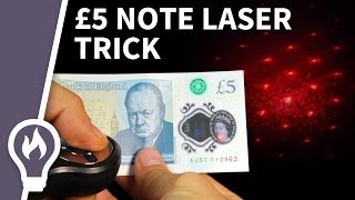 Shine a laser through the new £5 note