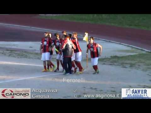 Preview video ACQUAVIVA-GINOSA 2-1 Gara equilibrata, l´Acquaviva sfrutta le occasioni su calcio da fermo.