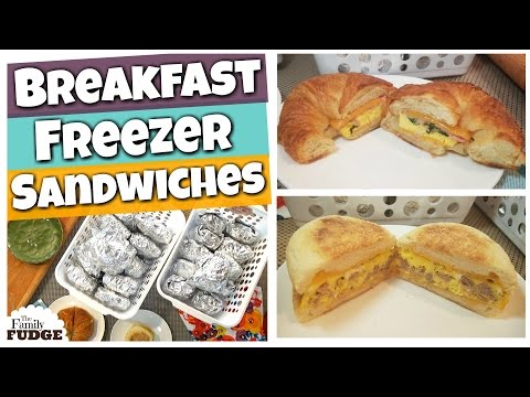 BREAKFAST FREEZER MEALS || 2 Breakfast Sandwiches  || Tutorial