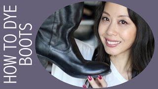 DIY - How To Dye Leather Boots